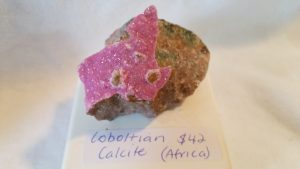 Cobolt Calcite Specimen for sale click here for more info