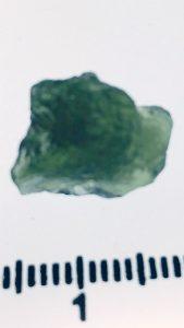 Moldavite 1.34gram piece for sale $35 - Click here for more info