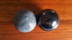 3cm Sphere Shungite and Talkohlorit Harmonizers for sale $50 click here for more info